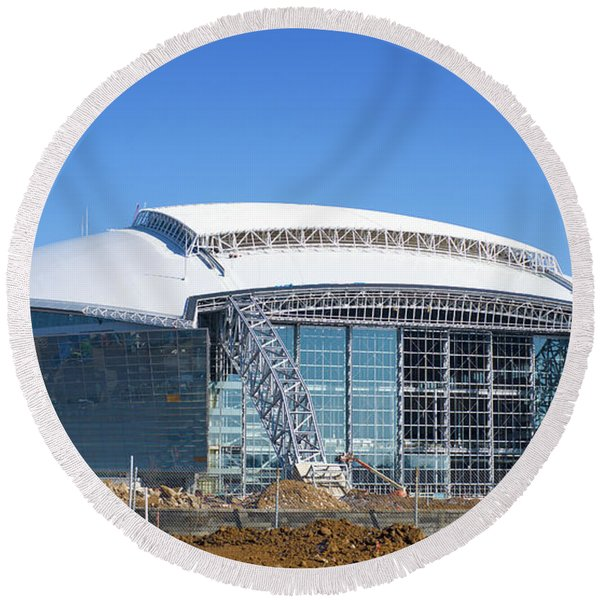 Cowboys Stadium 071416 Round Beach Towel