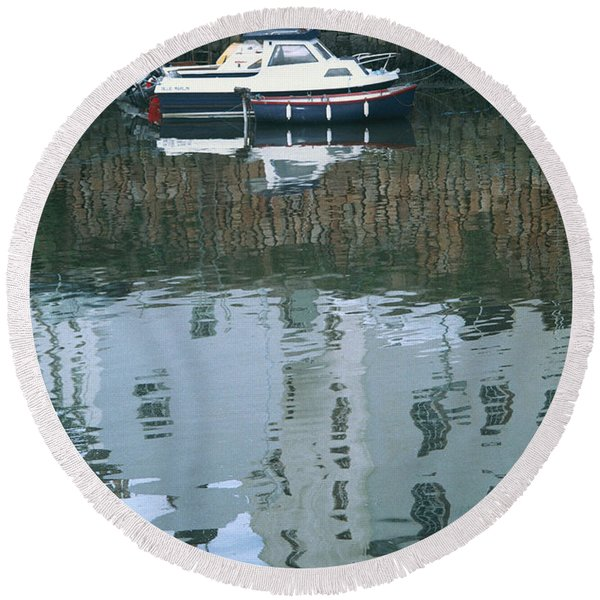 Crail Reflections II Round Beach Towel