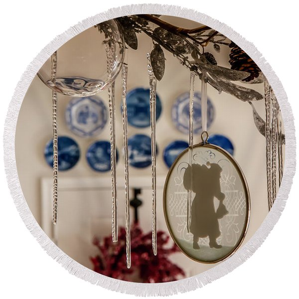 Crystal And Glass Round Beach Towel
