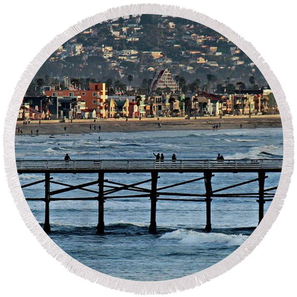 Crystal Pier - Mission Beach - Big Dipper Round Beach Towel