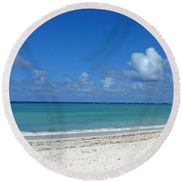 Cuba Beach Round Beach Towel