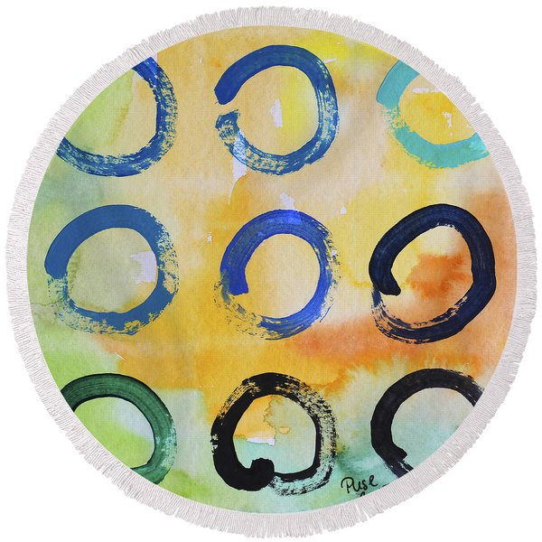 Daily Enso - The Nine Round Beach Towel