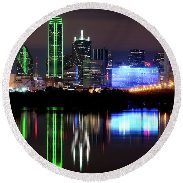 Dallas Pano 062916 Round Beach Towel