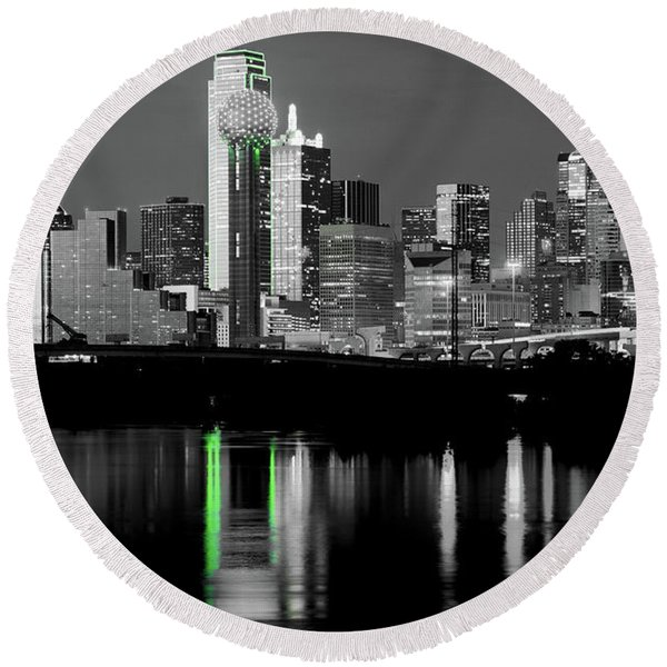 Dallas Skyline Gr91217 Round Beach Towel