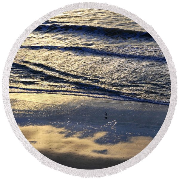 Round Beach Towel featuring the photograph Dawn by Gerlinde Keating - Galleria GK Keating Associates Inc