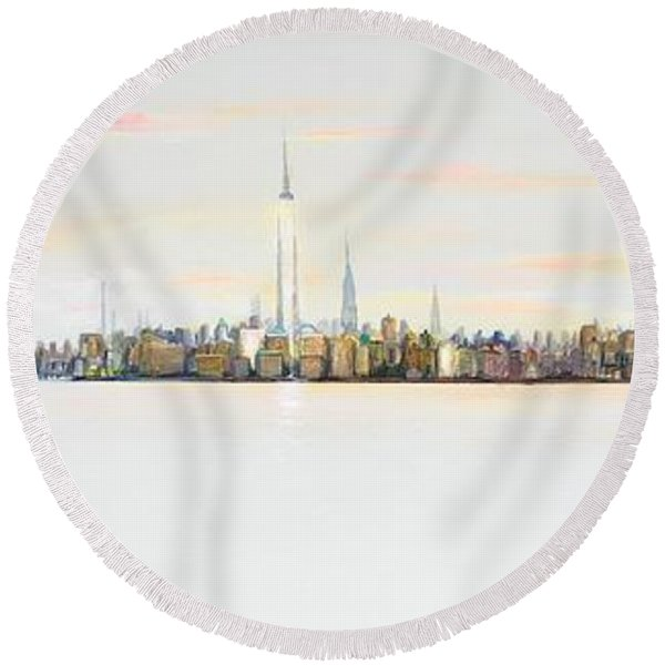 Dawns Early Light Round Beach Towel