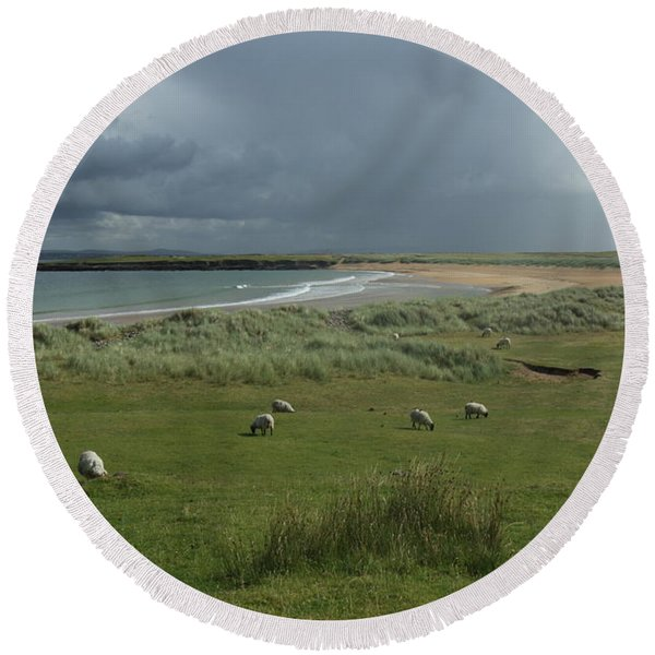 Doogh Beach Achill Round Beach Towel