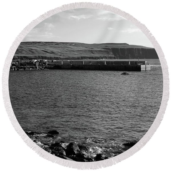 Doolin Harbour Round Beach Towel