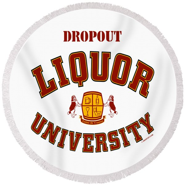 Dropout Round Beach Towel