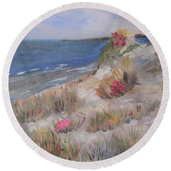 Dune View Round Beach Towel