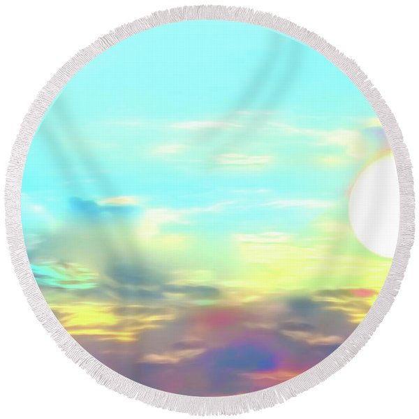 Early Morning Rise- Round Beach Towel