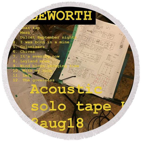 Edgeworth Acoustic Solo Tape H Round Beach Towel