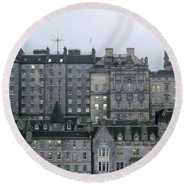 Edinburgh Round Beach Towel