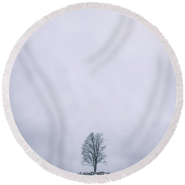 Elements Of Silence Round Beach Towel