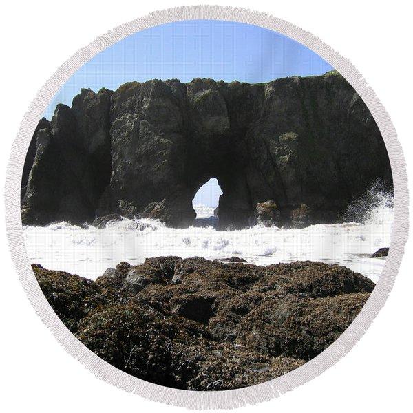 Elephant Rock 2 Round Beach Towel