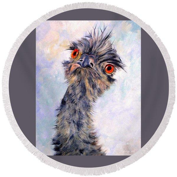 Emu Twister Round Beach Towel