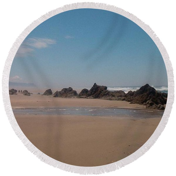 Endless Beach Round Beach Towel
