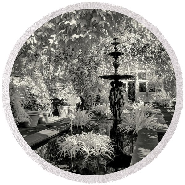 Enid A. Haupt Conservatory Round Beach Towel