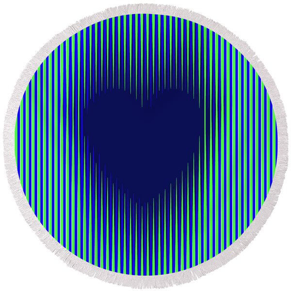 Expanding Heart 2 Round Beach Towel