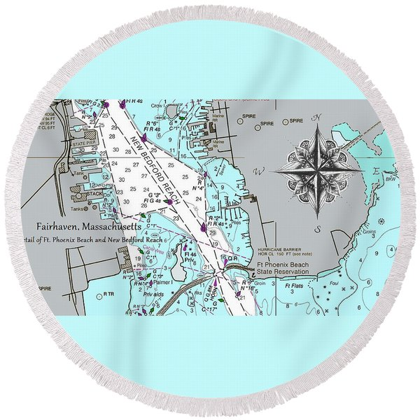 Fairhaven Detail Round Beach Towel