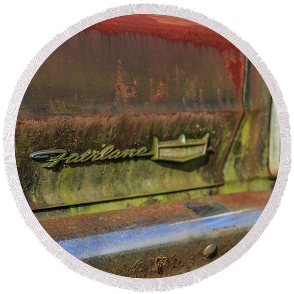 Fairlane Emblem Round Beach Towel