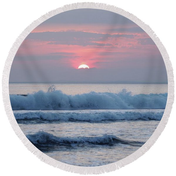 Fanore Sunset 1 Round Beach Towel