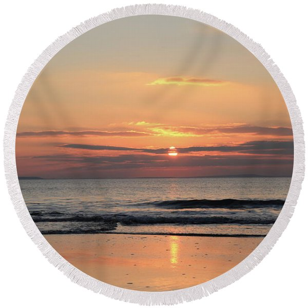Fanore Sunset 3 Round Beach Towel