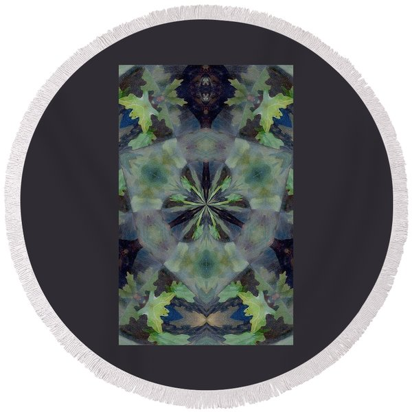 Fantasy Leaves Round Beach Towel