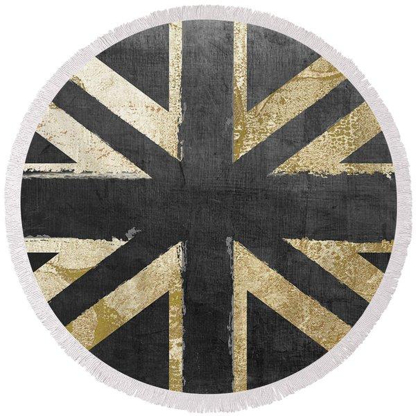 Fashion Flag United Kingdom Round Beach Towel