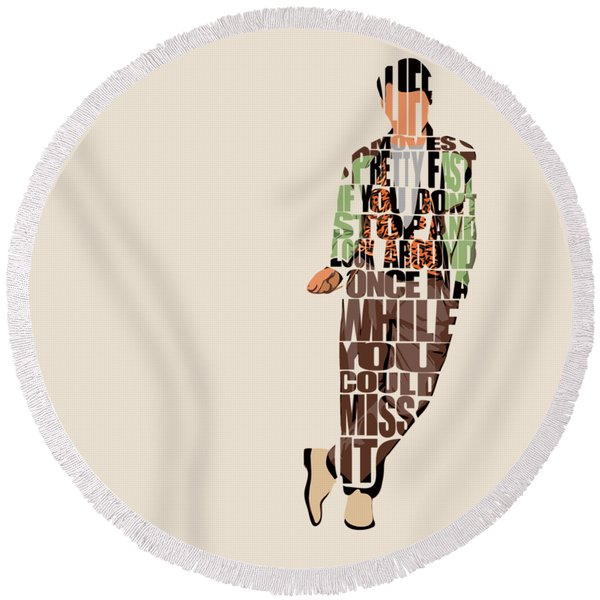Ferris Bueller's Day Off Round Beach Towel