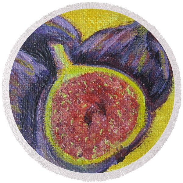 Four Figs  Round Beach Towel