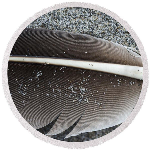 Flight Feather Round Beach Towel