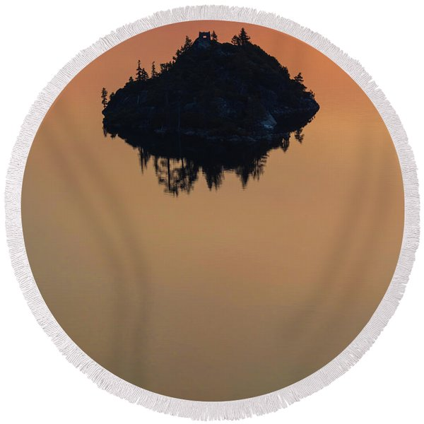 Floating Castle Round Beach Towel