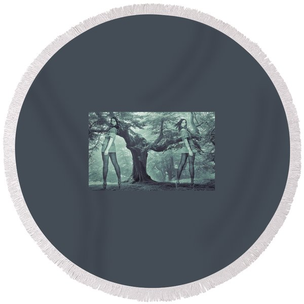 Round Beach Towel featuring the photograph Forest Harmony by Colette V Hera Guggenheim