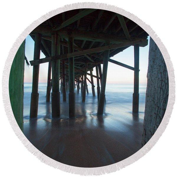 Framed In The Shadows Round Beach Towel