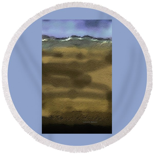 From The Mountains Round Beach Towel