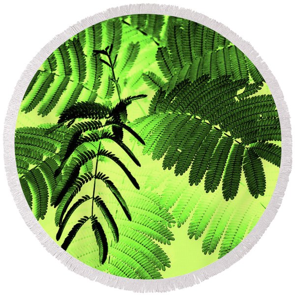 Round Beach Towel featuring the photograph Fronds by Gerlinde Keating - Galleria GK Keating Associates Inc