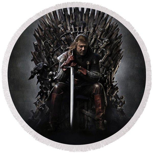 Game Of Thrones 2011 Round Beach Towel