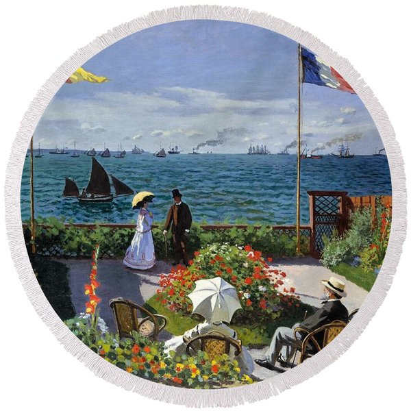 Painting - Garden At Sainte Adresse By Claude Monet by Claude Monet