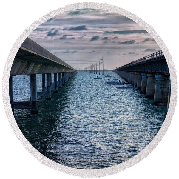 Generations Of Bridges Round Beach Towel