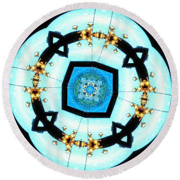 Geo 8 Round Beach Towel