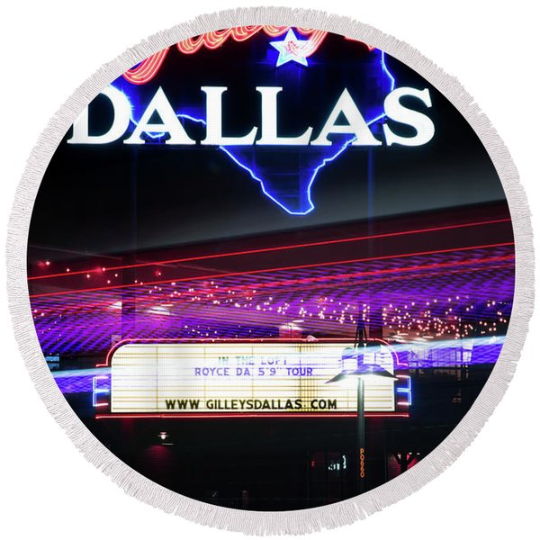 Gilley's Dallas V3 Round Beach Towel