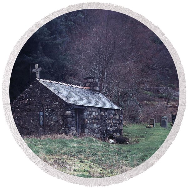 Glencoe Chapel Round Beach Towel