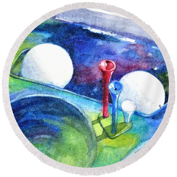 Golf Series - Back Safely Round Beach Towel