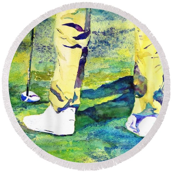 Golf Series - High Hopes Round Beach Towel