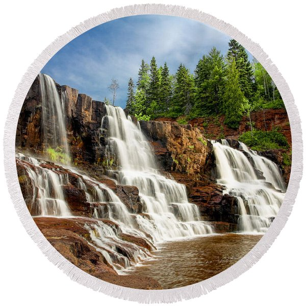 Gooseberry Falls Round Beach Towel