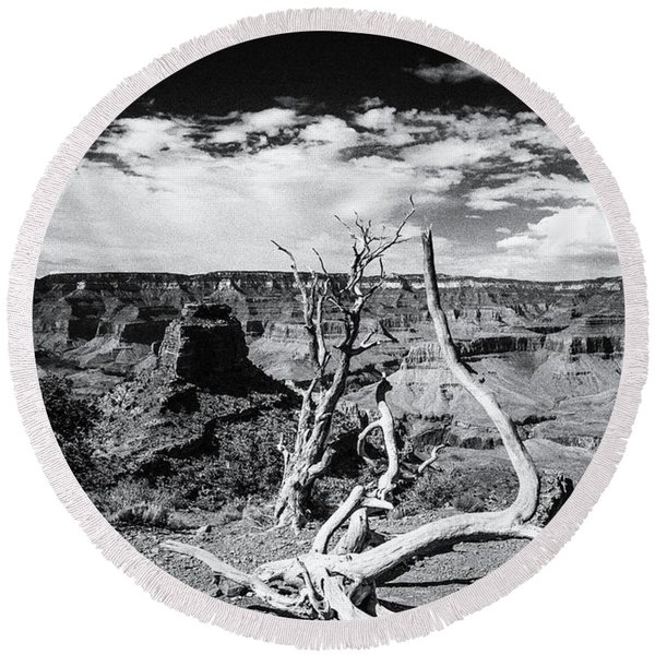 Grand Canyon Landscape Round Beach Towel