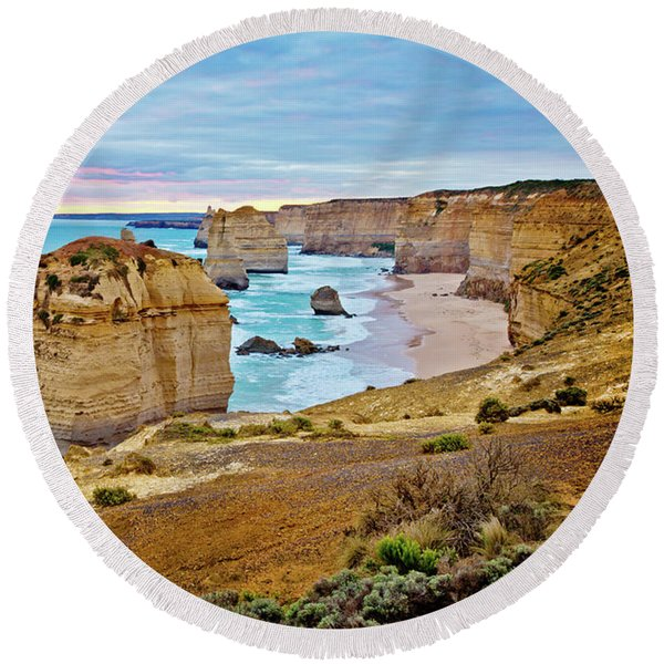 Great Southern Land Round Beach Towel