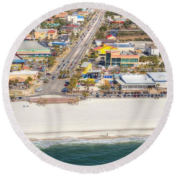 Gulf Shores - Hwy 59 Round Beach Towel
