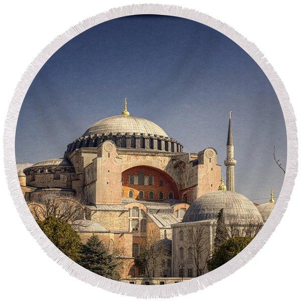 Hagia Sophia Round Beach Towel